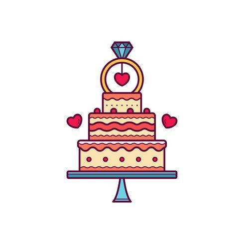 490x490 Wedding Cake Vector