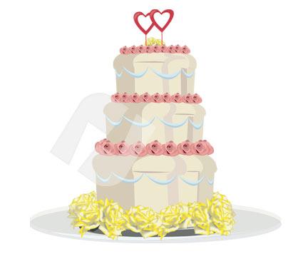 425x356 Wedding Cake Vector Clip Art 00285