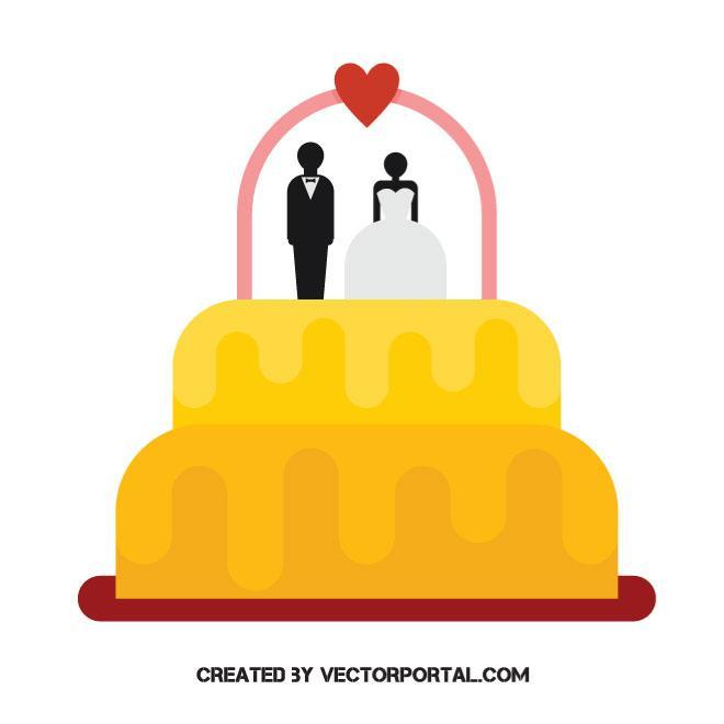 660x660 Wedding Cake Vector Clip Art
