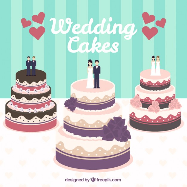 626x626 Wedding Cakes Illustration Vector Free Download