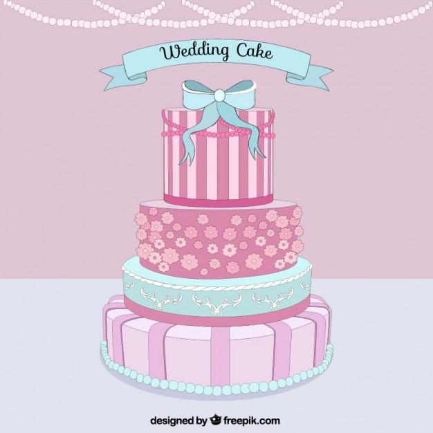 626x626 Delicious Wedding Cake Vector Premium Download