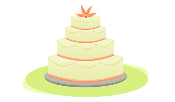 600x350 Free Wedding Cake Vector 123freevectors