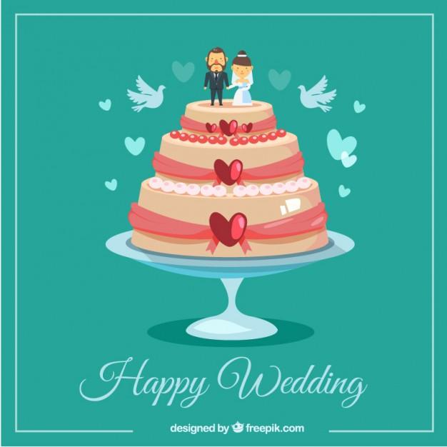 626x626 Happy Wedding Cake Vector Free Download