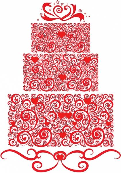 420x600 Lacy Wedding Cake Free Vector In Adobe Illustrator Ai ( .ai