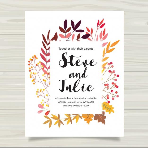 626x626 Multicolor Wedding Card Vector Free Download