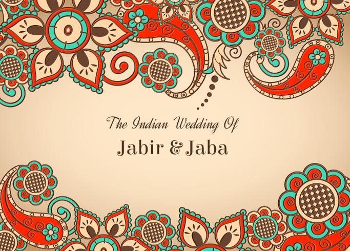 683x490 Vector Colorful Indian Wedding Card