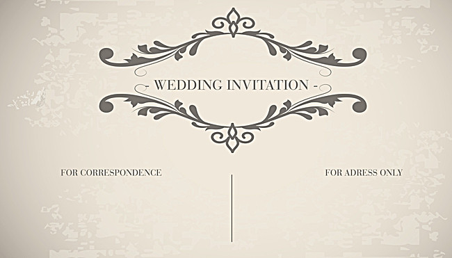 650x371 Vintage Wedding Card Invitation Card Decorative Patterns Vector