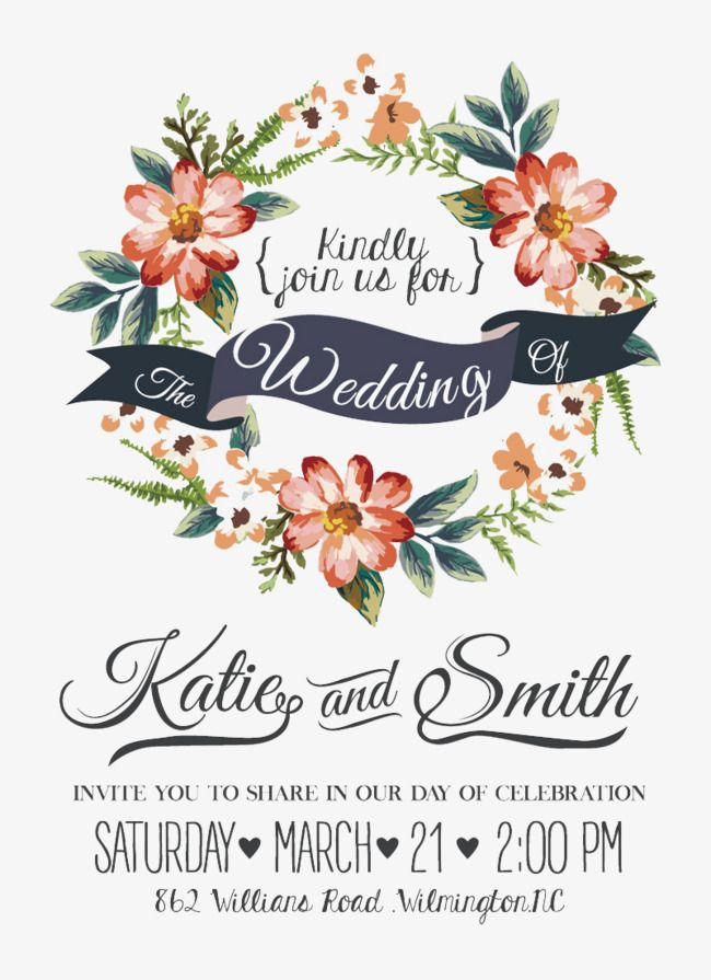 650x895 Watercolor Flowers Wedding Invitations Vector Material Free