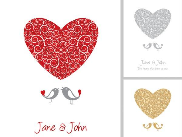 600x450 Wedding Card Vector Graphic