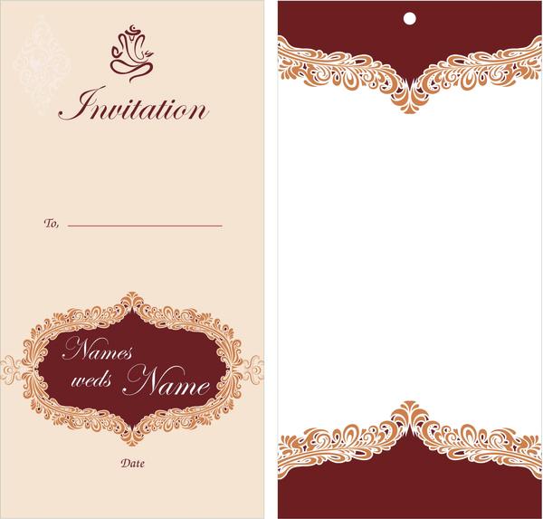 600x573 Wedding Card Design Free Vector In Encapsulated Postscript Eps