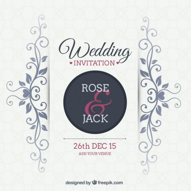 626x626 Wedding Invitation Vector