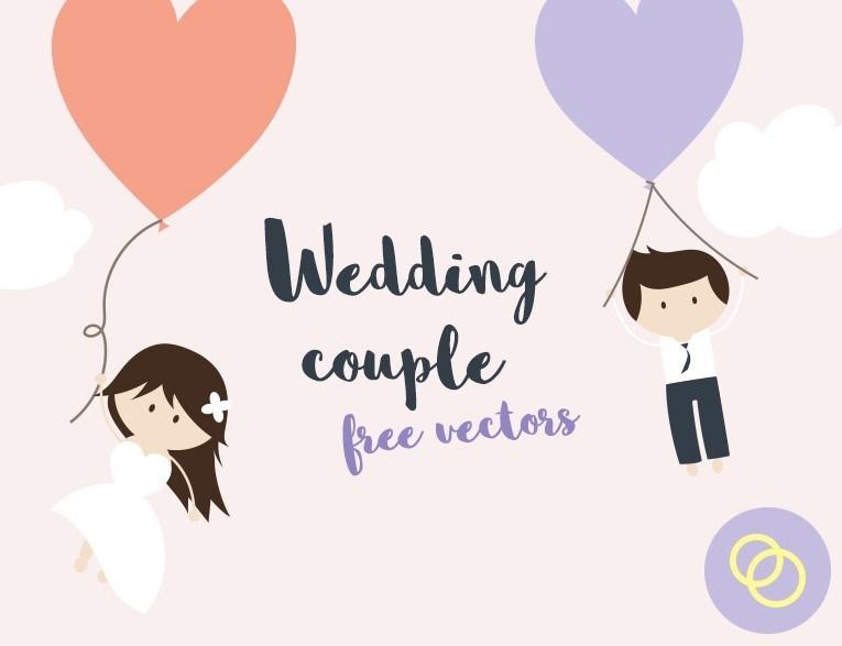 765x587 Free Cartoon Wedding Couple Vector