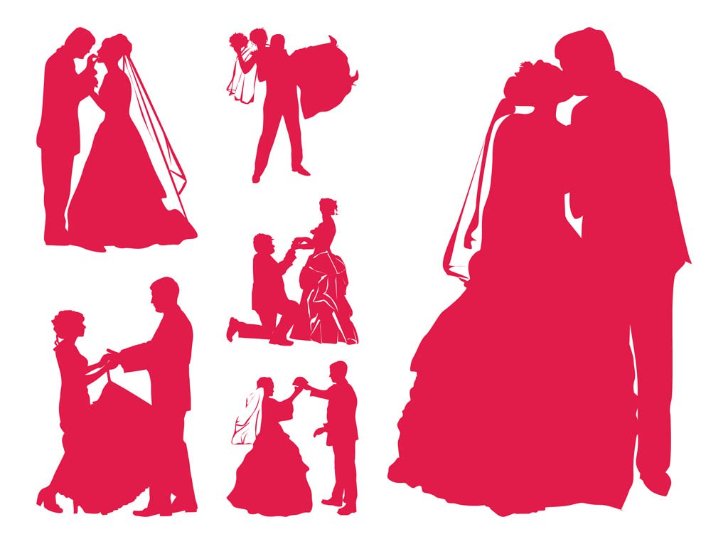 1024x765 Married Couples Silhouettes Vector Art Amp Graphics
