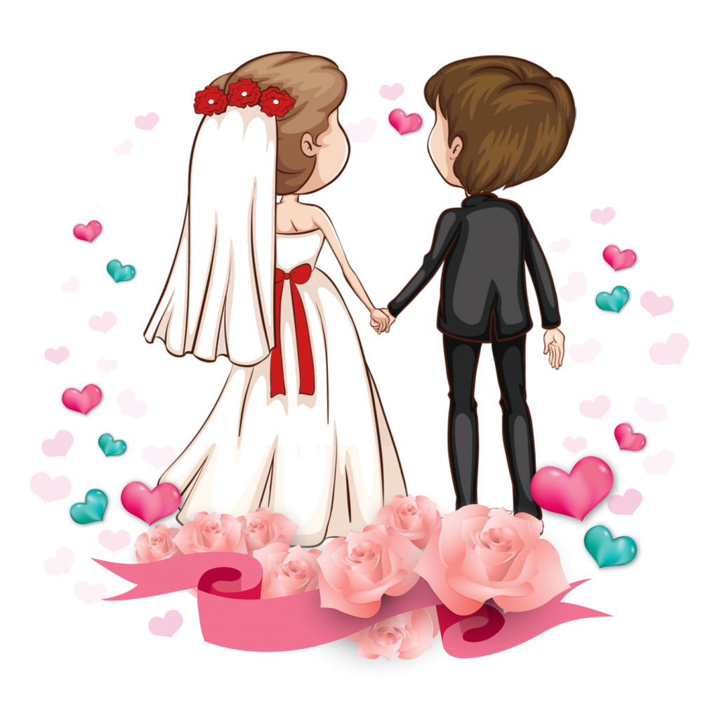 1024x1011 19 Couple Vector Wedding Huge Freebie! Download For Powerpoint