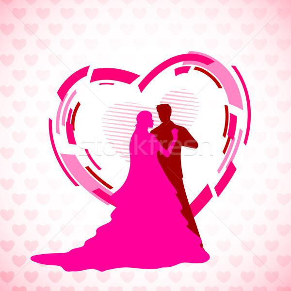 600x600 Wedding Couple Vector Illustration Vectomart ( 1585245) Stockfresh
