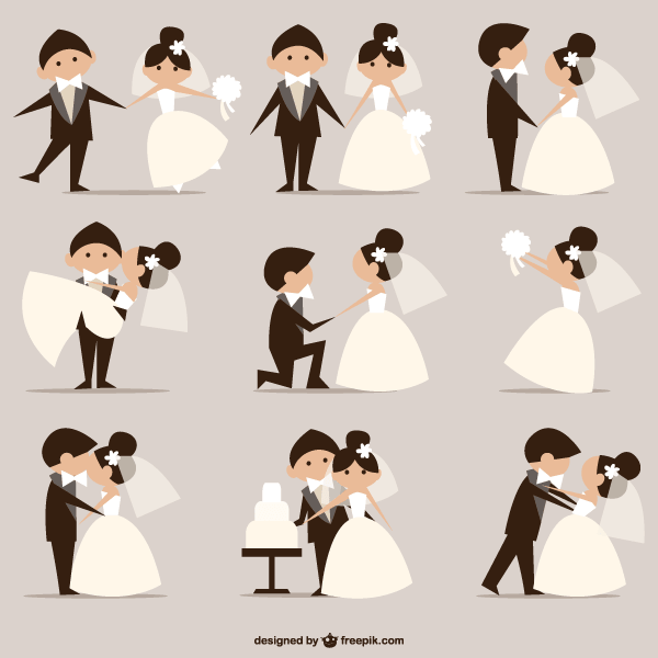 600x600 Wedding Pictures, Newly Married Couples Vector Free Vectors