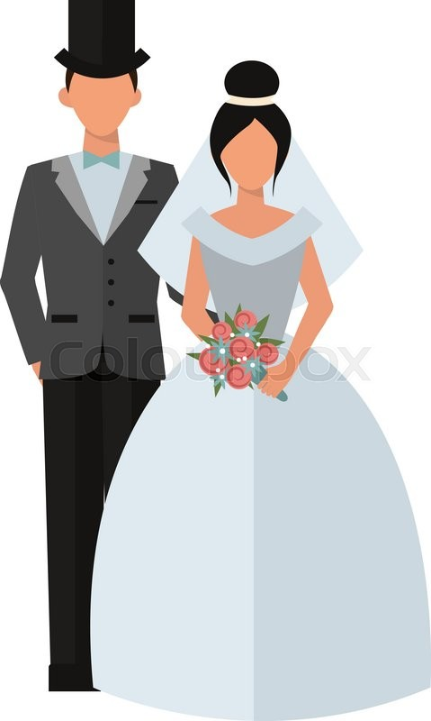 479x800 Wedding Couple People Vector Illustration. Wedding Couple Isolated
