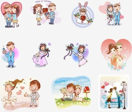 435x368 Wedding Couple Vector Free Vector Download (2,142 Free Vector) For