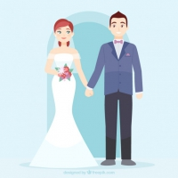 200x200 Wedding Couple Vector Free Vector Graphic Art Free Download (Found