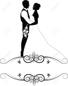 236x298 Bride And Groom Wedding Silhouette Couple Vector Id587189104 532