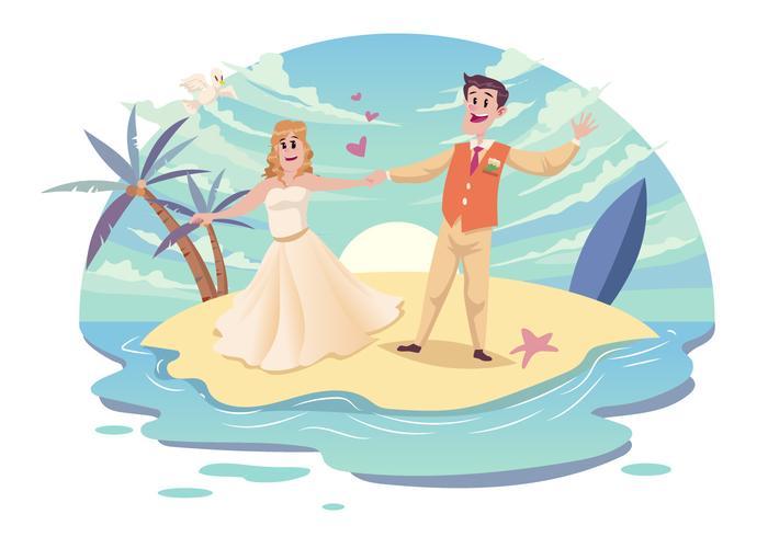 700x490 Beach Wedding Couple Vector