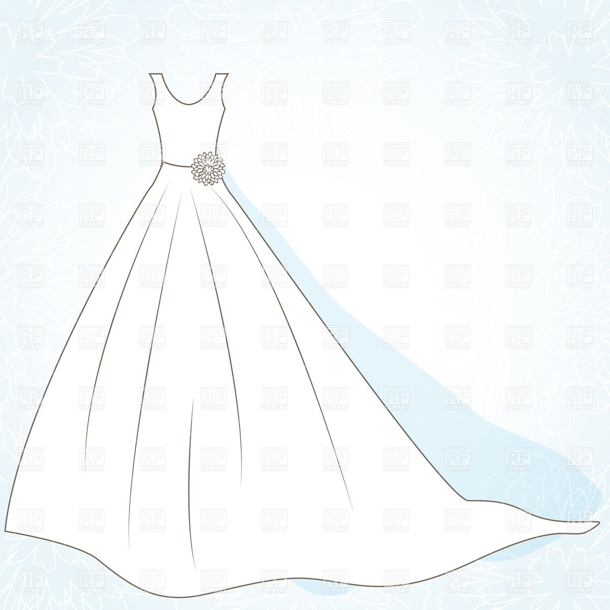 1200x1200 Simple Wedding Dress Vector Image Vector Artwork Of Beauty