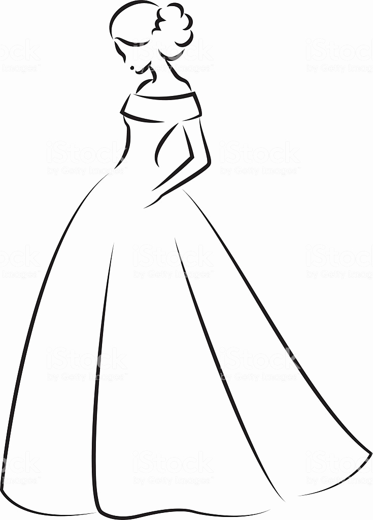 735x1024 Wedding Dress Vector Awesome Free Bride With Wedding Dress Vector