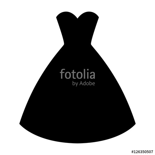 500x500 Woman Wedding Dress Silhouette. Simple And Elegant Woman Fashion