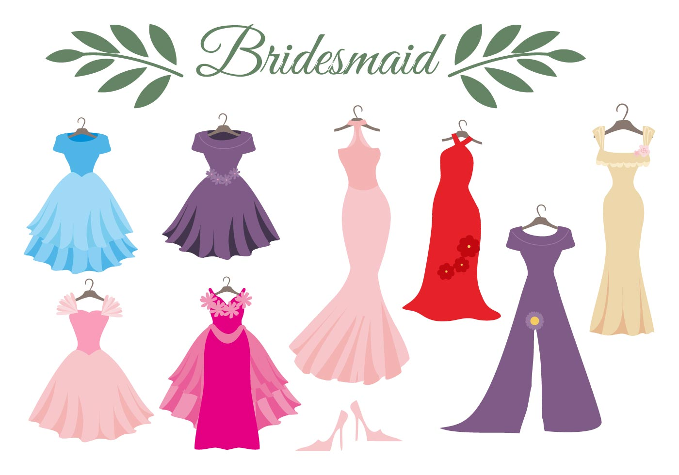 1400x980 Free Wedding Dress Bridesmaid Vector