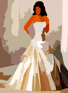 220x300 Corset Wedding Dress Vector Colour Contrast Enhance Free Images