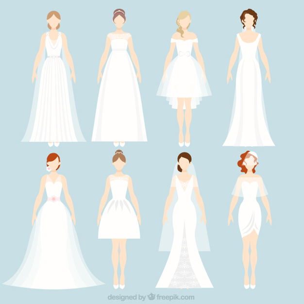 626x626 Different Wedding Dresses 8 Different Wedding Dresses Vector Free