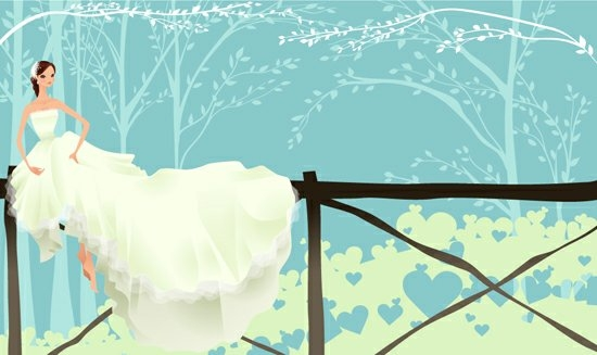 550x327 Elements Of Bride Wedding Dress Vector Free Download
