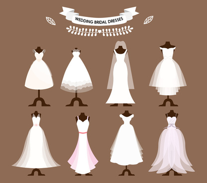 417x368 Free Bridal Gown Vector Free Vector Download (105 Free Vector) For