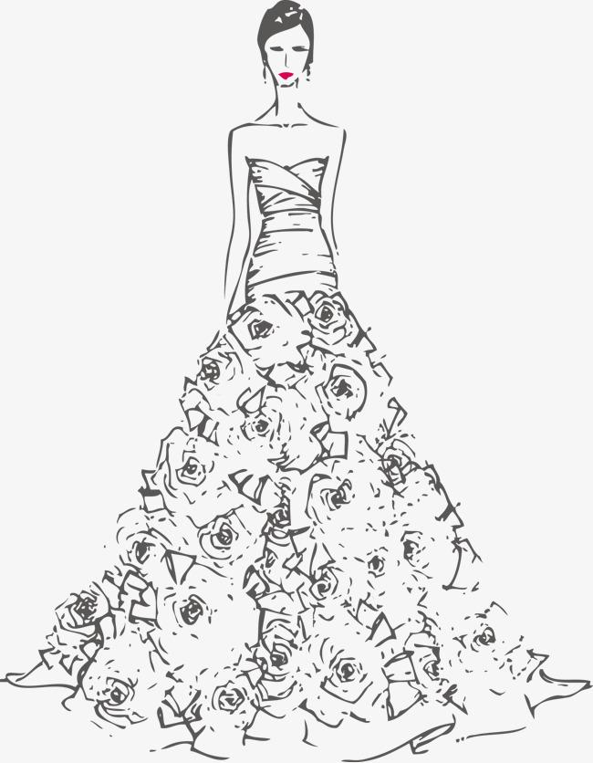 650x836 Model Wedding Dress Gown, Vector Wedding, Waves Wedding, Wedding