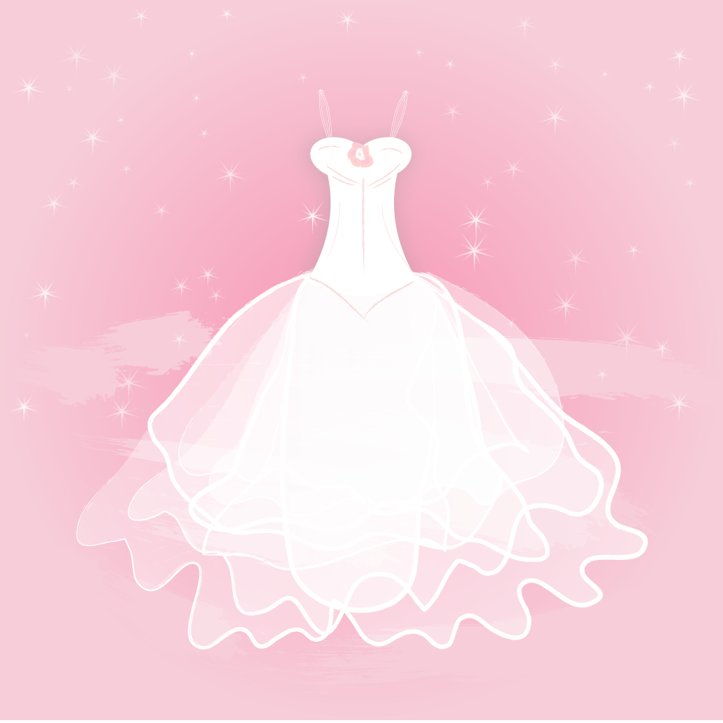 1024x1024 Pretty Bride Wedding Gown Vector Free Vector Download In .ai