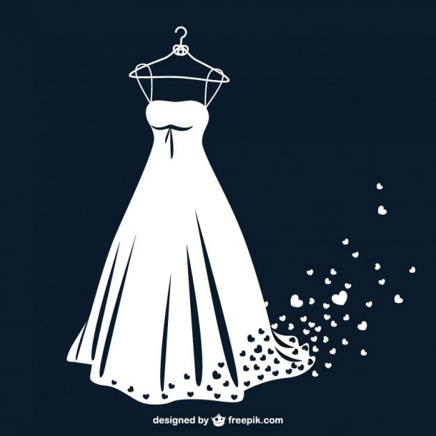 626x626 Wedding Dress Clipart Vector Free Download 4050751