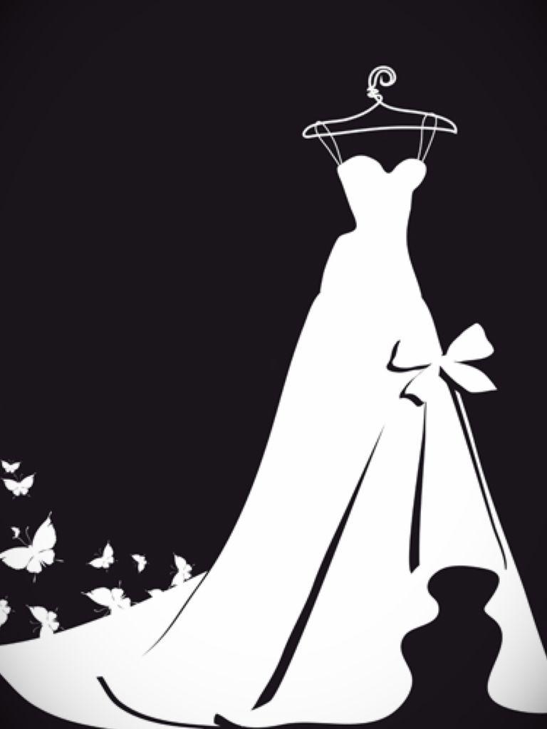 768x1024 Wedding Dress Outline Clip Art