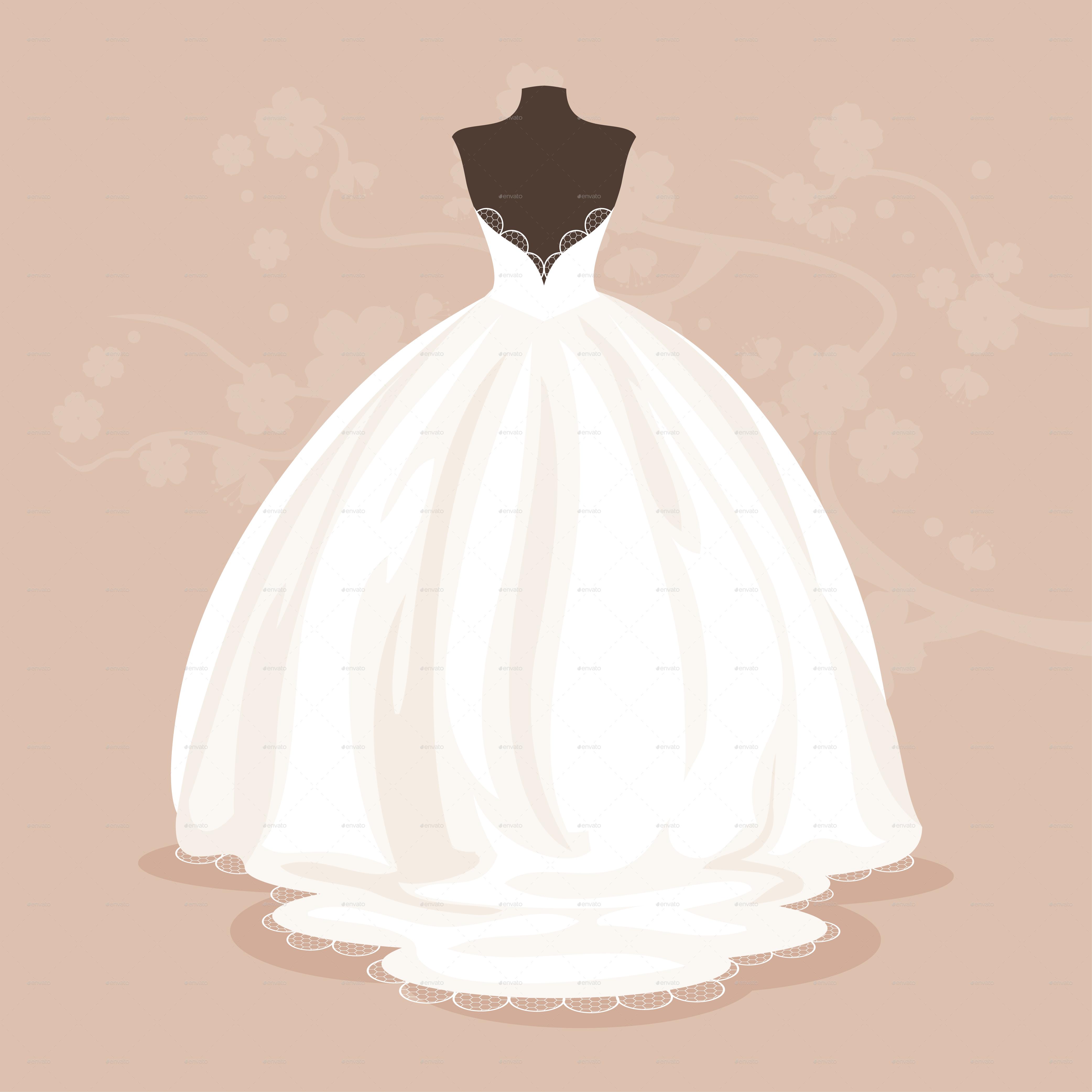 4167x4167 Wedding Dress By Artbesouro Graphicriver