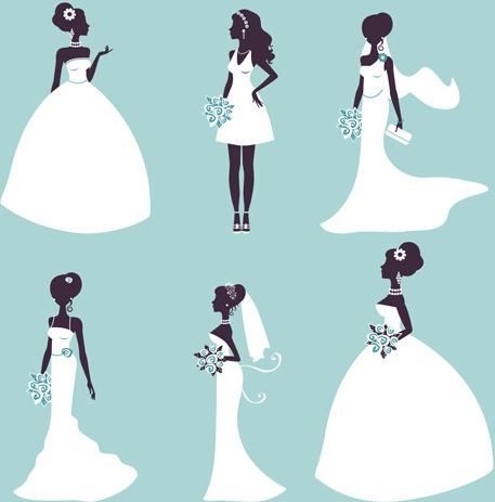 457x463 Wedding Dress Clipart Vector Free Download