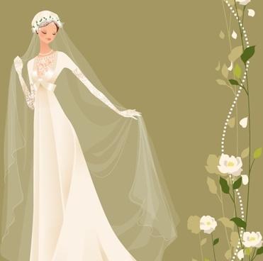371x368 Wedding Dress Clipart Vector Free Download