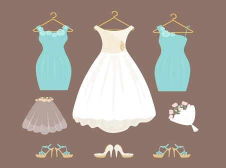 452x336 Wedding Dress Vector