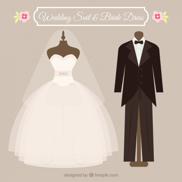 626x626 Wedding Suit And Dress Vector Free Download