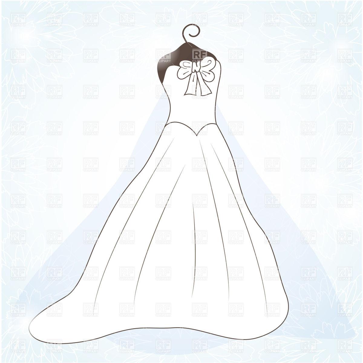 1200x1200 White Wedding Dress Vector Image Vector Artwork Of Beauty