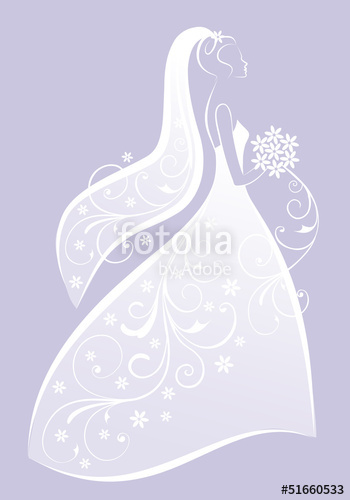 350x500 Bride In Wedding Dress, Vector Stock Image And Royalty Free