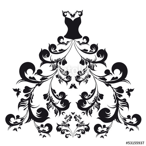 500x500 Wedding Dress Vector Stock Image And Royalty Free Vector Files On