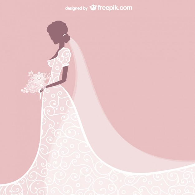 626x626 Bride Dress Vector Free Vector Download In .ai, .eps, .svg Format