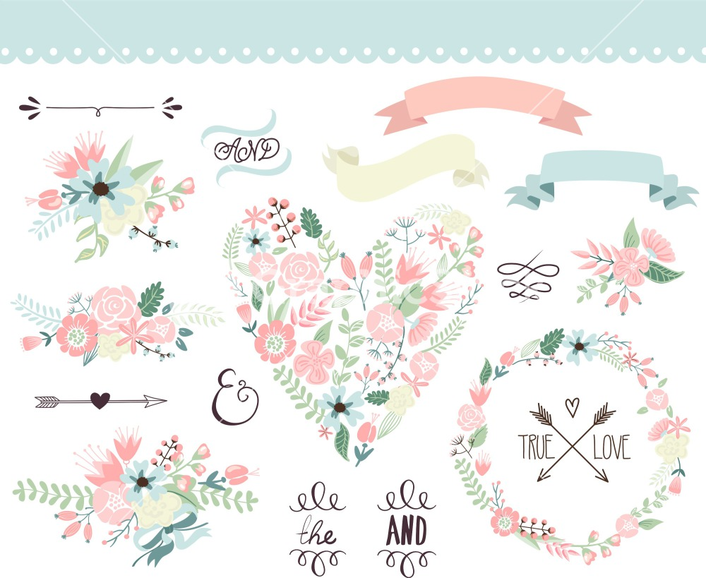 Wedding Floral Vector
