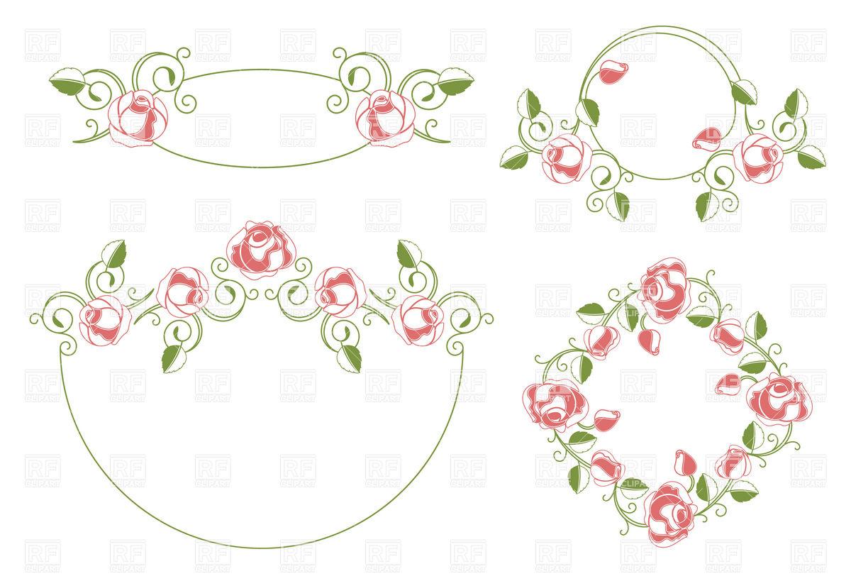 1200x812 Floral Vintage Wedding Frames Vector Image Vector Artwork Of