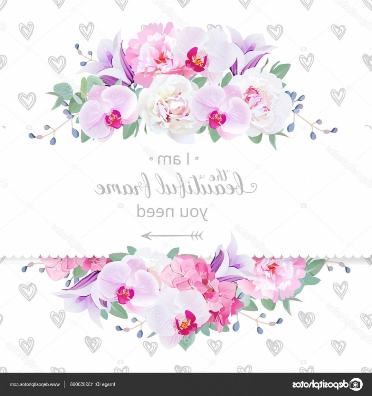 1155x1228 Stock Illustration Wedding Floral Vector Design Horizontal