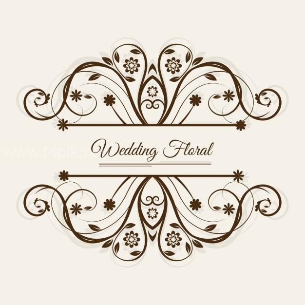 626x626 Vector ] Wedding Floral Frame Free Download